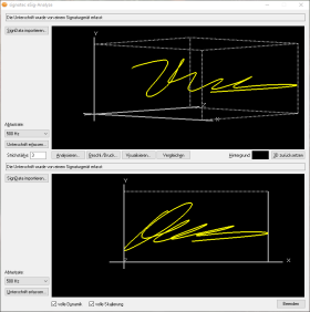 Screenshot: eSig-Analyze - Signature 4D Data © signotec GmbH