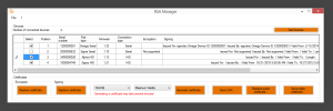 Screenshot RSA Manager EN © signotec GmbH
