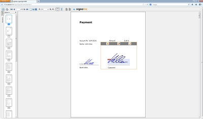 signoSign /Web Applet in action © signotec GmbH