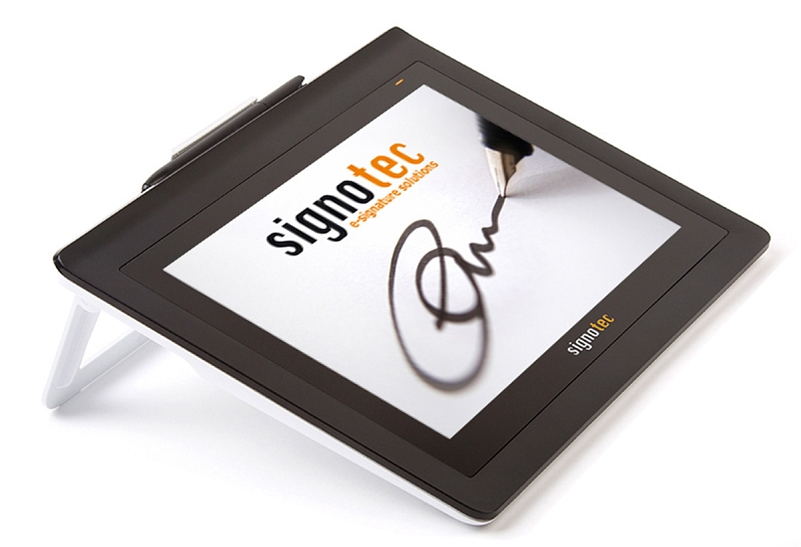 signotec Signature Pad Delta - Integrated stand © signotec GmbH