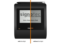 signotec Zeta comparison Backlight